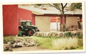 Besucher Miniaturlandwirtschaft